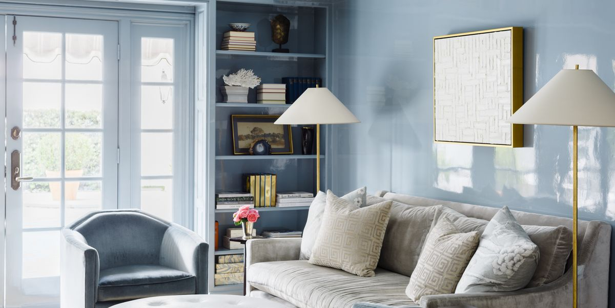 Living Room Design Grey And Blue