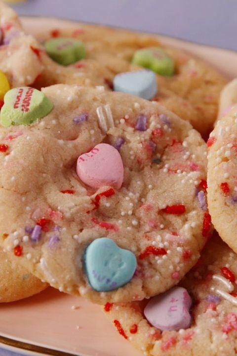 Valentine's Day Cookies - Conversation Heart Cookies