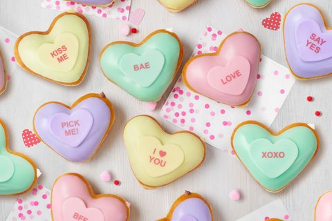 Heart, Sweetness, Sweethearts, Icing, Food, Snack, Valentine's day, Finger food, Confectionery, Baked goods,