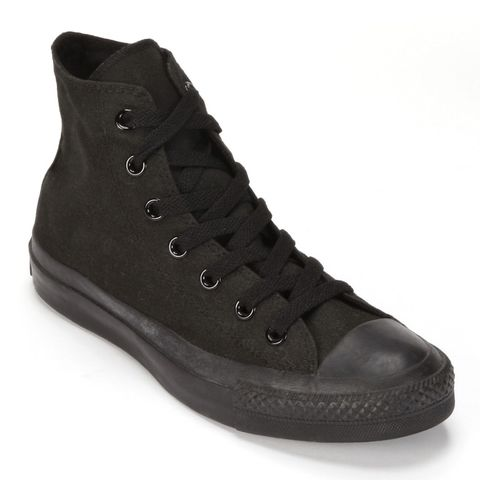 Converse all black high top