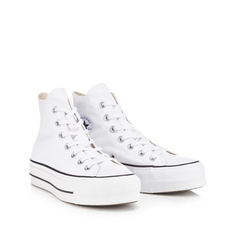Converse-White canvas 'All star lift' flatform trainers