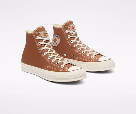 converse攜手carhartt wip推出chuck 70「栗色、迷彩」聯名帆布鞋!