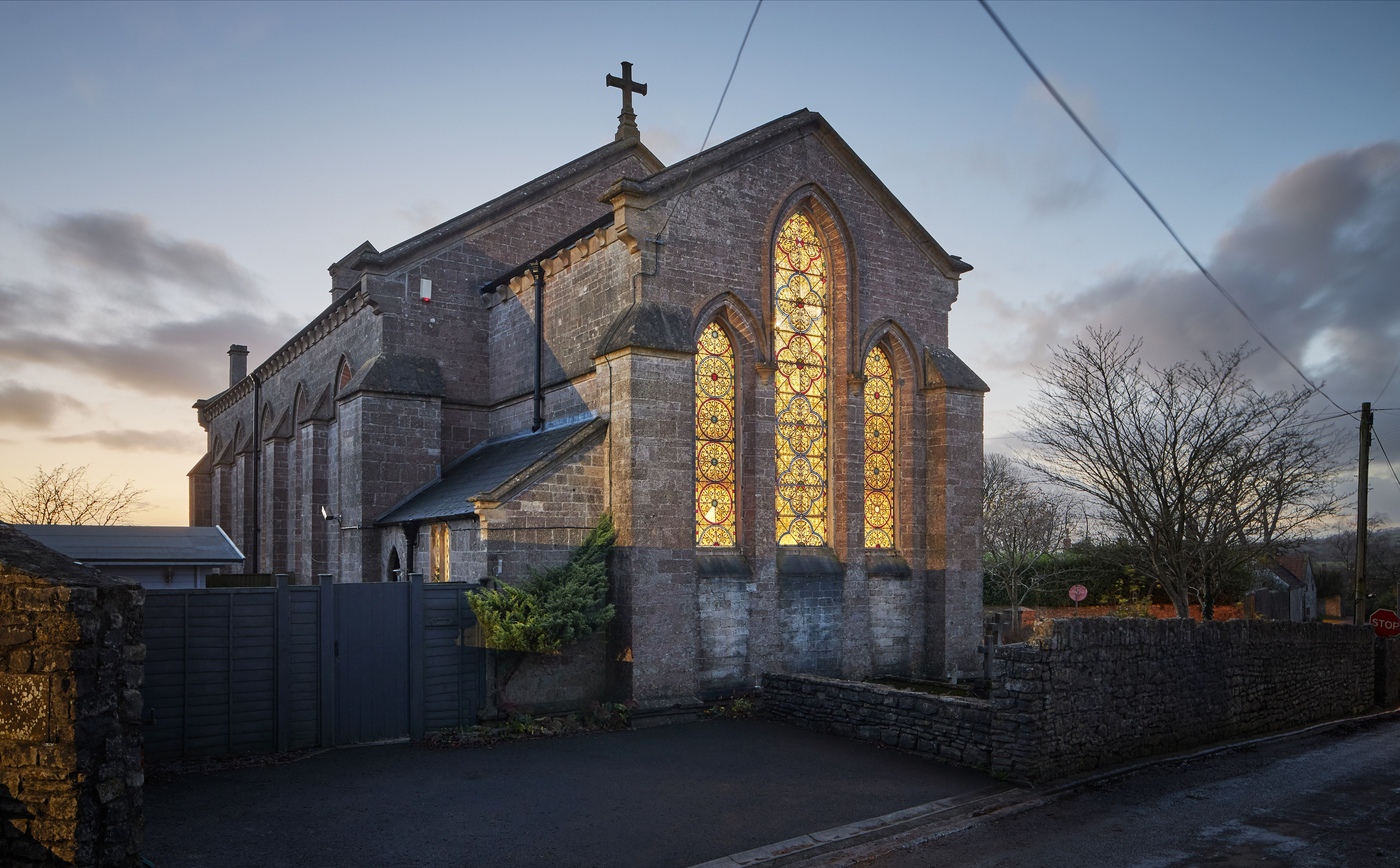 Stunning converted gothic church for sale in Somerset
