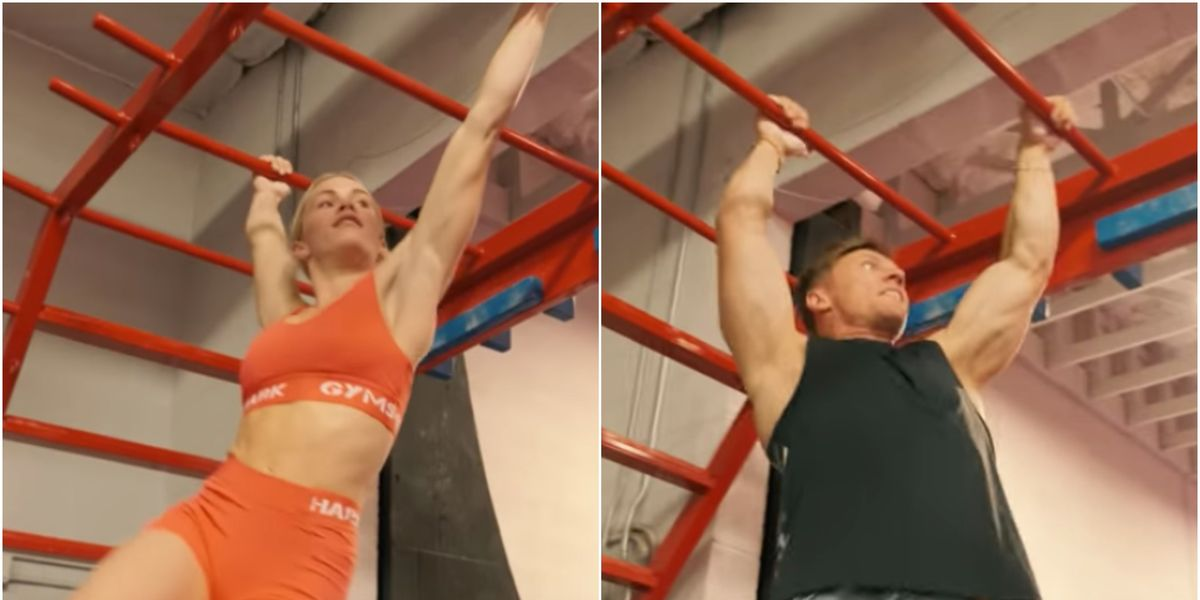 Watch This Bodybuilder and Gymnast in a Battle of the Sexes Ninja Challenge