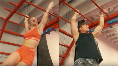 Shoulder, Physical fitness, Arm, Leg, Joint, Human body, Muscle, Pull-up, Competition event, Crossfit,
