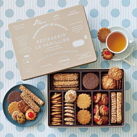 「クッキー缶のお取り寄せ」パティスリー ル・バニーエ  「プティフールセック缶」