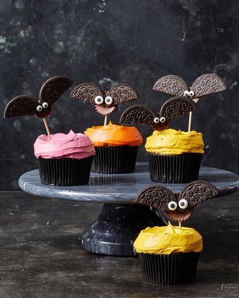 Halloween Bat Cupcakes.Best Cookie Bat Cupcakes Recipe How To Make Cookie Bat Cupcakes