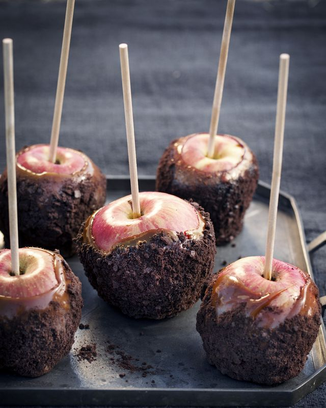cookie coated caramel apples