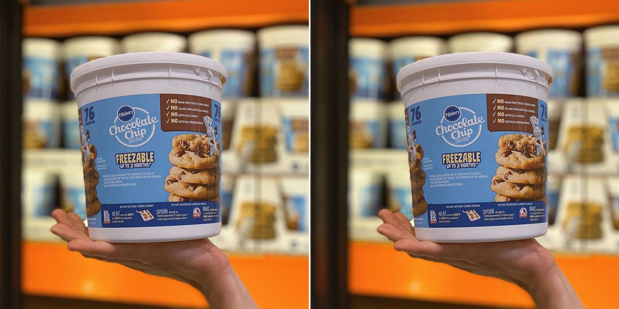 Costco Is Selling 76 Ounce Tubs Of Freezable Chocolate Chip Cookie Dough