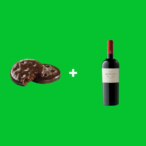 wine with girl scout cookies