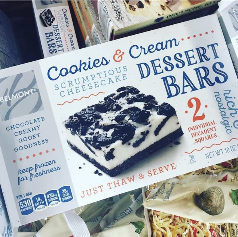 Aldi Is Selling Cookies Cream Cheesecake Bars That Come In Decadent Squares