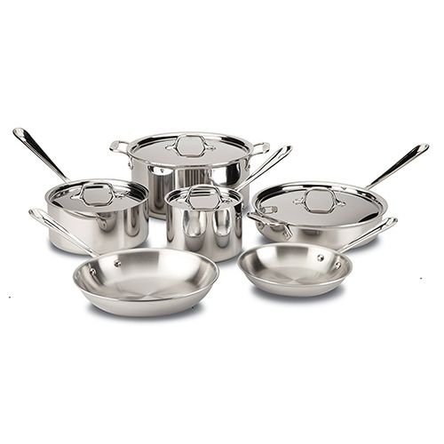 All-Clad Stainless Steel Tri-Ply 10-piece Cookware Set