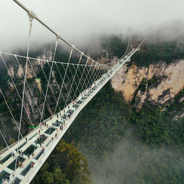 Asitektur Jembatan Terindah di Dunia - Glass bridge, China