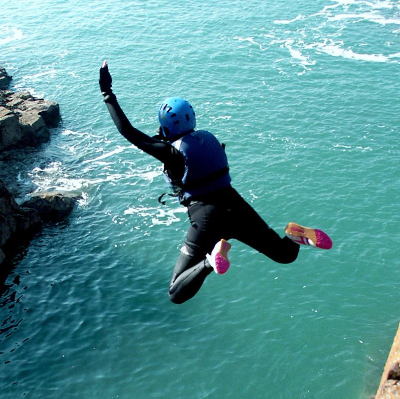 Solo holidays with a healthy twist: Coasteering in Pembrokeshire