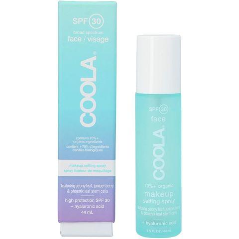 coola face makeup setting spray spf 30 zonbescherming