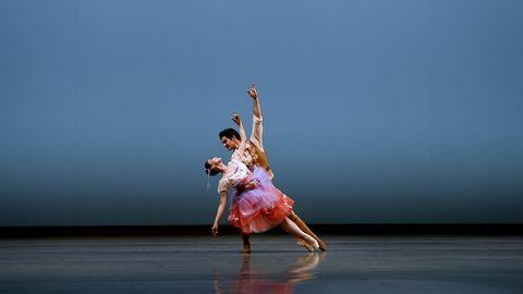 misa kuranaga and angelo greco in the pas de deux from arthur saint léon's coppélia  © san francisco ballet