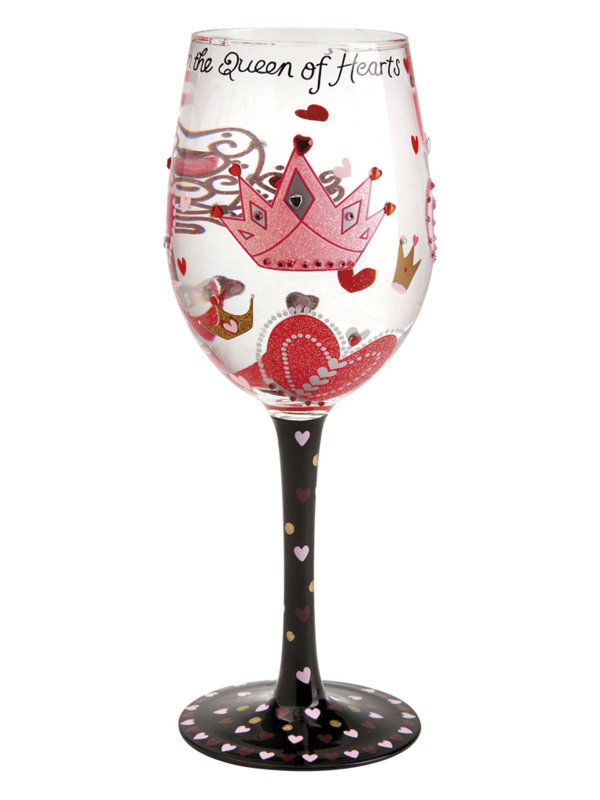Copa de vino Queen of Hearts