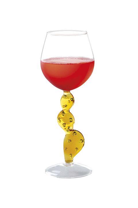 copa de vino con pie de cactus desert plant de alessandra baldereschi para ichendorf milano