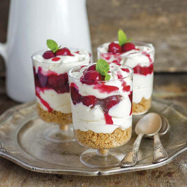 Copas de cheesecake