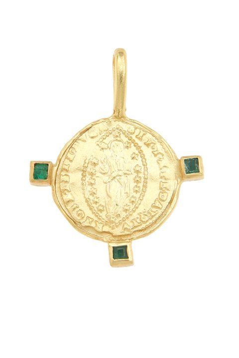 Jewellery, Fashion accessory, Pendant, Tortoise, Turquoise, Turtle, Turquoise, Locket, Gold, Brass,
