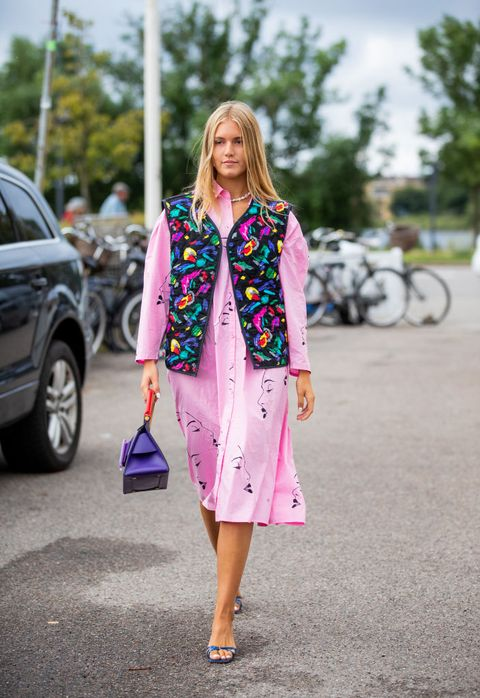 Clothing, Street fashion, Pink, Fashion, Blazer, Outerwear, Footwear, Magenta, Jacket, Shoe,