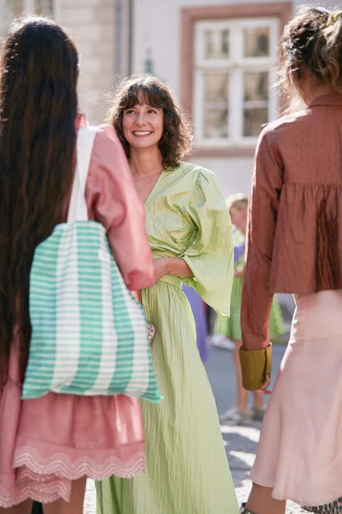 look colori pastello, abbinamento colori e vestiti, come abbinare i colori nell'abbigliamento, come abbinare i colori pastello, outfit colori pastello, Copenaghen fashion week streestyle, copenhagen fashion week spring summer 2020