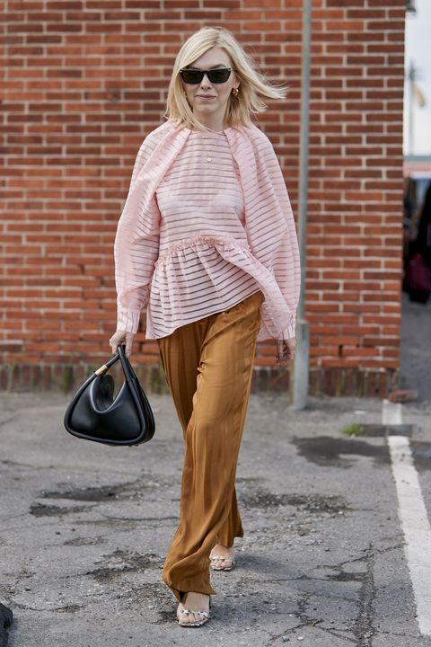 Clothing, Street fashion, White, Jeans, Fashion, Eyewear, Sunglasses, Brown, Snapshot, Footwear,