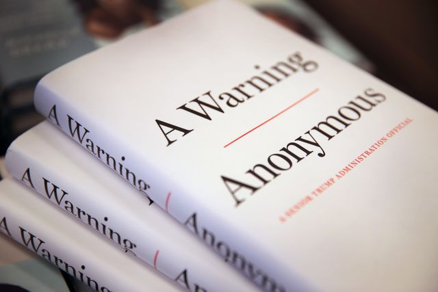 tell all book by anonymous senior official in trump administration goes on sale