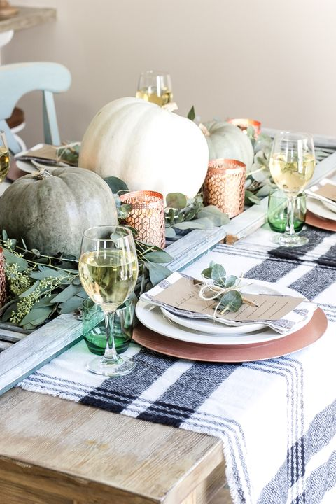 Copper Thanksgiving Table Decor