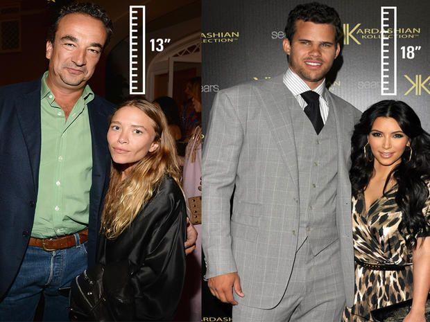 coppie di Hollywood Mary-Kate Olsen e Olivier Sarkozy ; Kim Kardashian e Kris Humphries