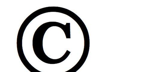 Copyright C in Circle