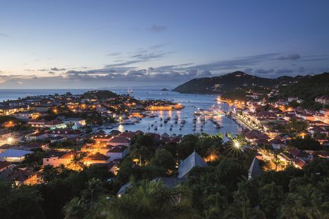 The view from Hotel Barrière Le Carl Gustaf in St. Barts