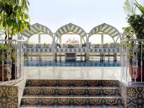 Outdoor terrace atSoho House Mumbai members club, Mumbai