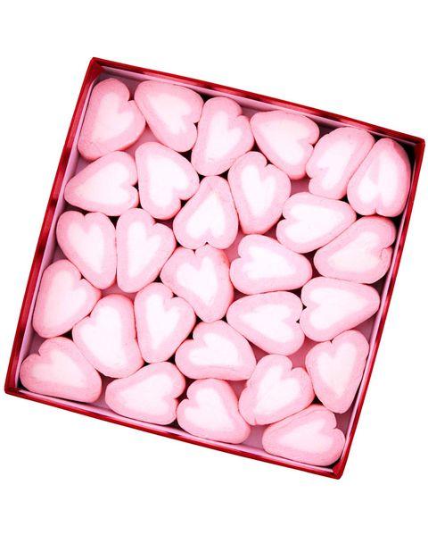 Caja de chuches: corazones de golosinas para San Valentín