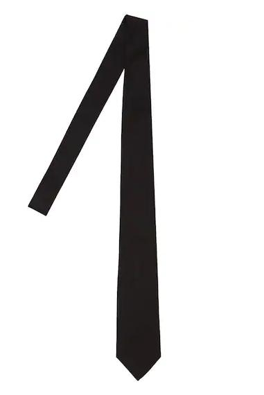 Corbata negra slim, corbata negra hombre slim
