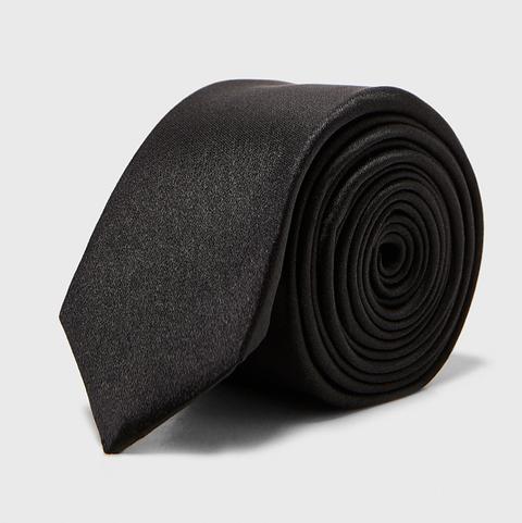 Corbata Zara, corbata negra
