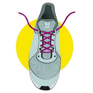 forma, atar, cordones, zapatillas, running
