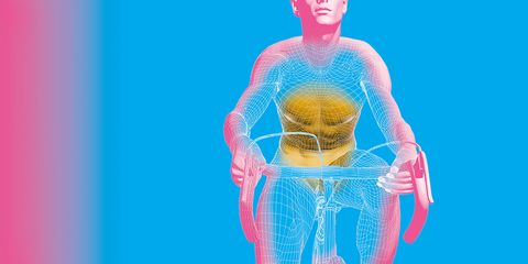 Body scan of cyclist using spin bike