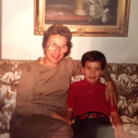 corey cappelloni and his grandmother from when corey was a boy