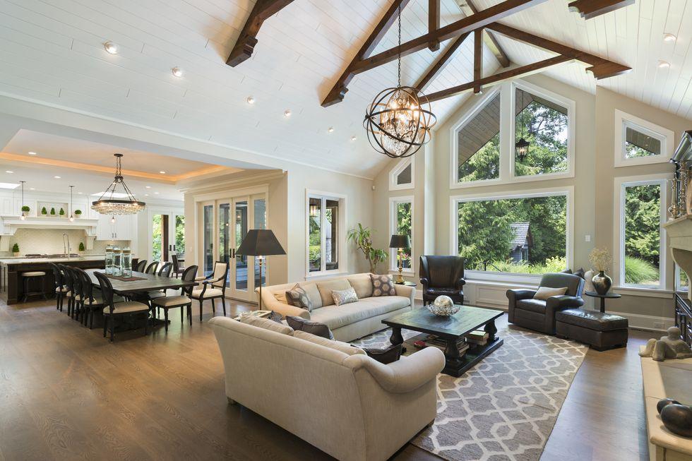 Open Floor Plan Home with Soaring Ceilings