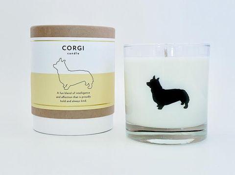 corgi dog breed candle