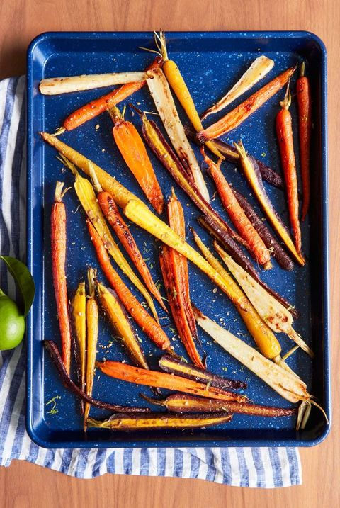 coriander maple glazed carrots