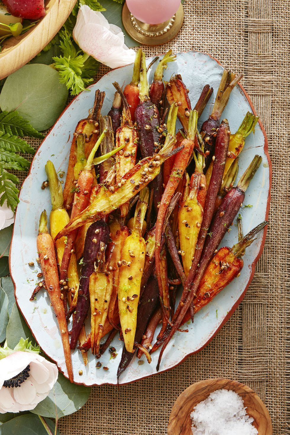 coriander-maple glazed carrots