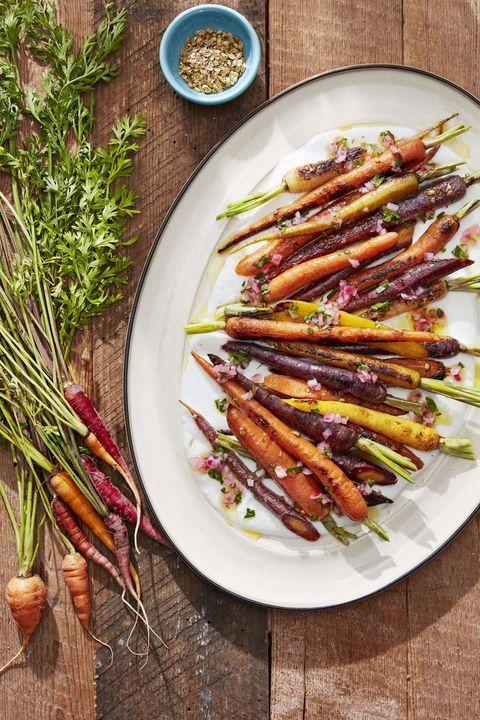 coriander roasted carrots healthy christmas recipes