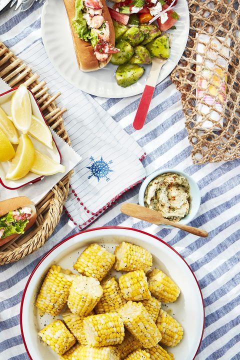 corn cobettes basil butter
