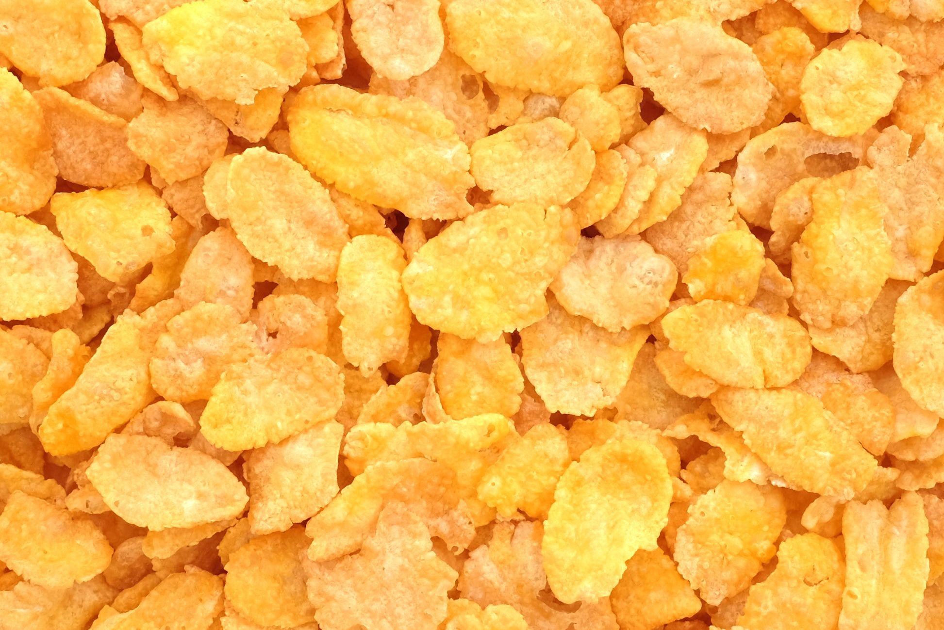 Corn flakes breakfast cereal heart