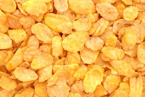 Corn flakes breakfast cereal heart