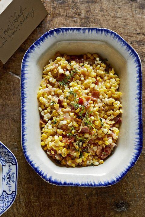 thanksgiving salads corn bacon honey