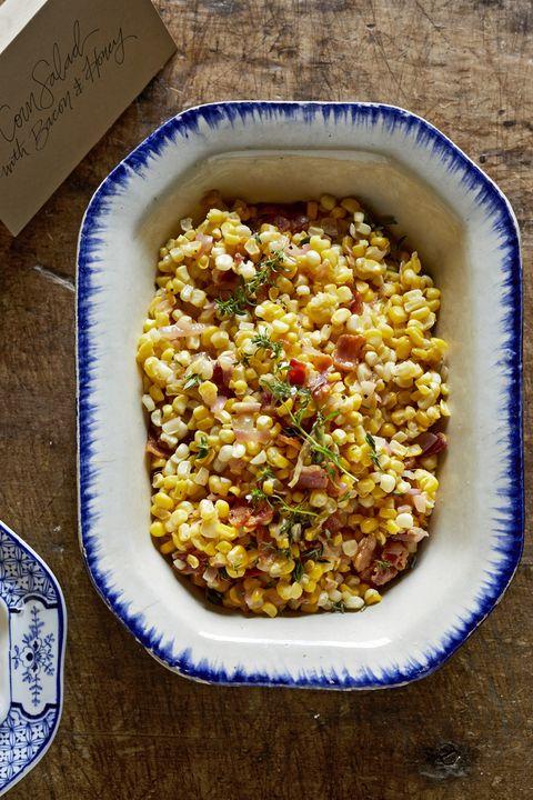 corn salad bacon honey recipe