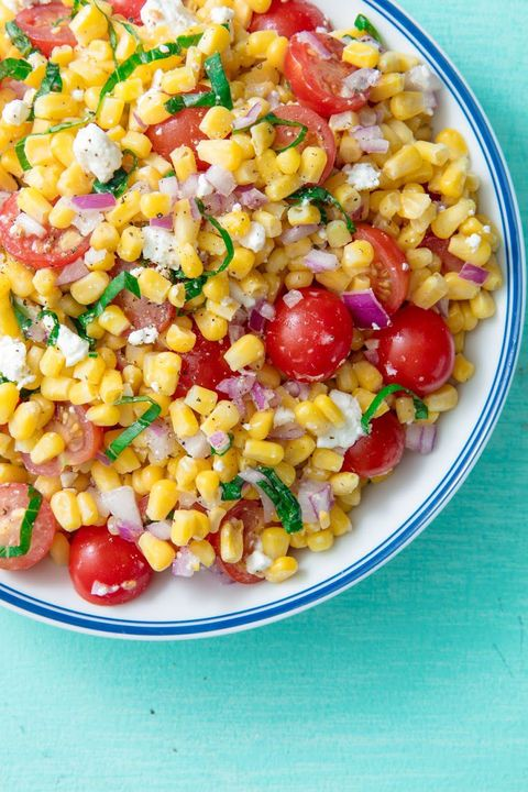 Dish, Food, Cuisine, Corn salad, Sweet corn, Vegetable, Ingredient, Salad, Vegetarian food, Succotash,
